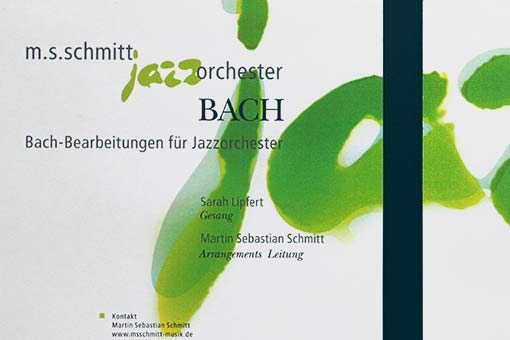 jazzorchestra - bach-promo cd, cover and back