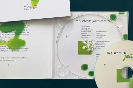 jazzorchestra - bach-promo cd-inlay with cd