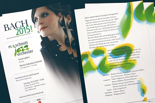 jazzorchestra - bach 2015 flyer, front and back