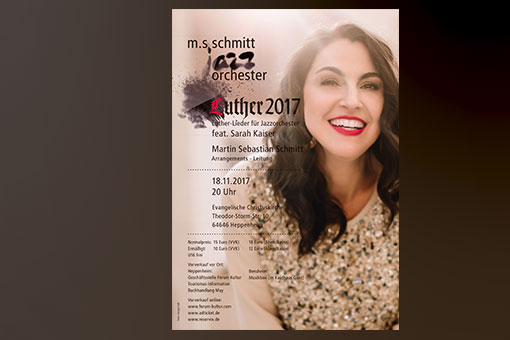jazzorchestra - luther 2017 poster