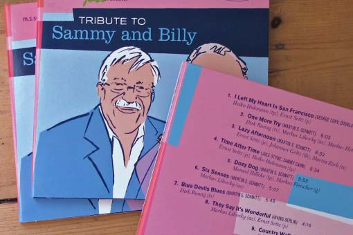 jazzorchestra - tribute to Sammy and Billy, cover and back